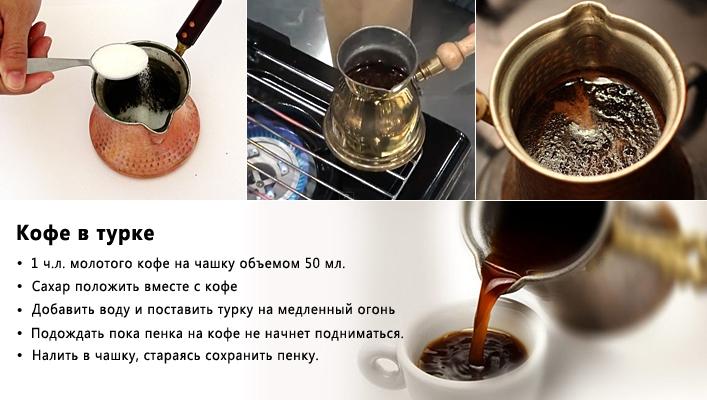 как приготовить кофе в турке правильно